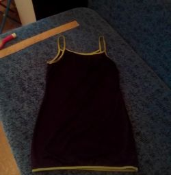 Women's dress with slits on the back