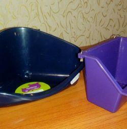 Alimentare prin jgheab și toaletă de colț