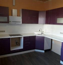 Kitchen glossy metallic / violet 3.0 * 2.1 m