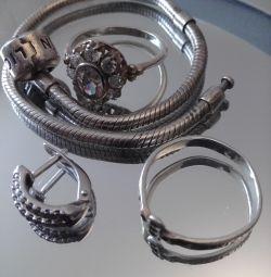Set de bijuterii din argint 925