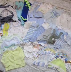 pachet de lucruri pentru copil 0-6 luni.