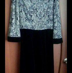 Βελούδινο φόρεμα r.46