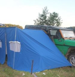Awning (marquise) - a tent is automobile