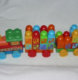 Σχεδιαστής Τρένων από τα Αγγλικά. αλφάβητο Mega Bloks