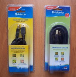 USB cables 3 m and 1.8 m