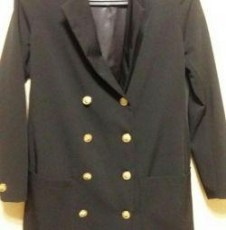 Классический пиджак Серебро