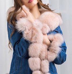 Jachete din denim cu blană