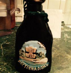Flask ceramics inscription Rostov-on-Don