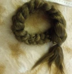 Braid from natural hair 70cm