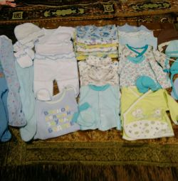 Baby's undershirts, sliders, hats from 0+