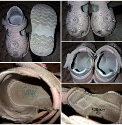 Sandals for the girl 19 size