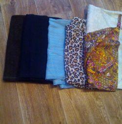 Куски ткани