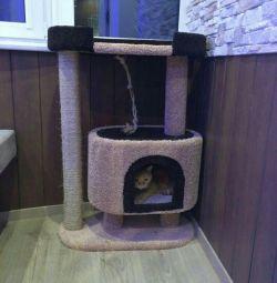 Комплекс для кошек с когтеточкой