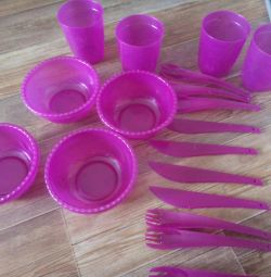 Set for a picnic plastic