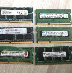 Μνήμη RAM για φορητούς υπολογιστές ddr3 και ddr1, τιμή