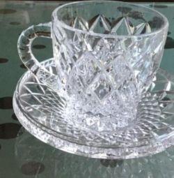 Pereche de ceai de cristal