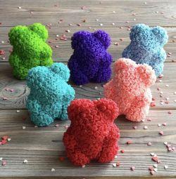 Αρκούδα από τριαντάφυλλα / δώρο / χειροποίητο σαπούνι
