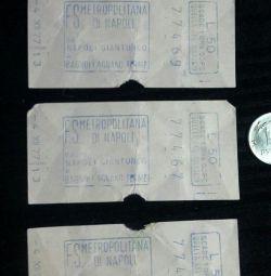 1977 Metro ticket. Italy.