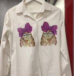 Shirt with owls