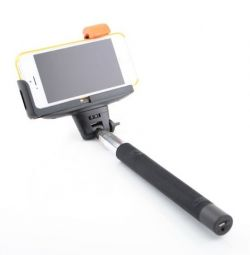 Monopod for Selfie with bluetooth button - Black