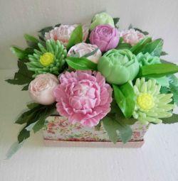 Handmade soap bouquet