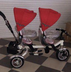 Новый Детский велосипед для двойни