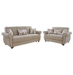 LIVING ROOM SET 2pcs 2I & 3I MILAS ДИВАН БЕЖЕВИЙ HM3068.