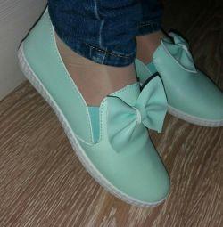 Balet pantofi menta