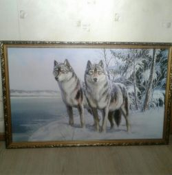 Painting-wolves