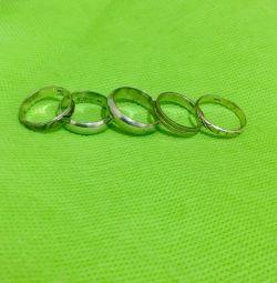 Ασημένια δαχτυλίδια γάμου