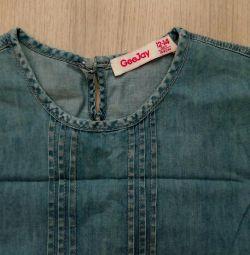 Легке джинсове плаття 10-12 років