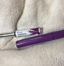 Serum (for growth of eyelashes) + mascara