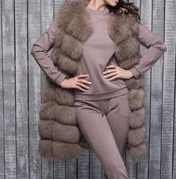 Arctic fox vest