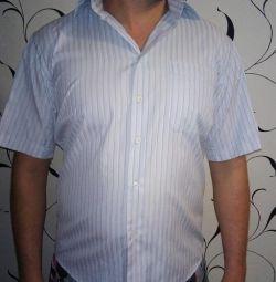 Gri Çizgili 48 Beden Gömlek