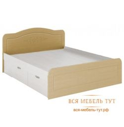 Elsa Bed 1.6 with drawers MDF (white / mother of pearl) KR-913