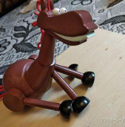 Toy wooden-horse Julius.