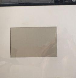 Рамка 65/53 с чeрным кантом для фото 32/20см стекл