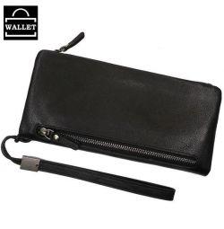 Μαύρο πορτοφόλι από γνήσιο δέρμα