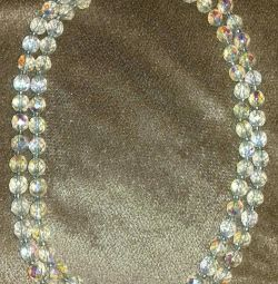 Crystal beads. Czech Republic 60's. Vintage.