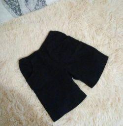 Чeрные шорты 128