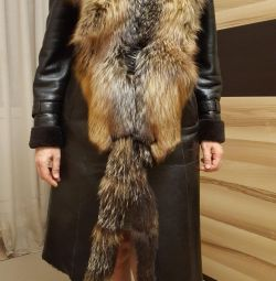 Παλτό παλτό για γυναίκες, φυσικό