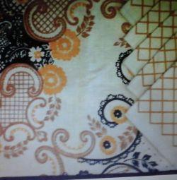 Скатертина і 6 серветок з льону, подушки 40 х 40 см