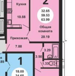 Daire, 2 oda, 60 m²