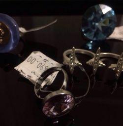 Τα δαχτυλίδια είναι νέα, χωρίς διαστάσεις: Γαλλία, Δανία, swarovski