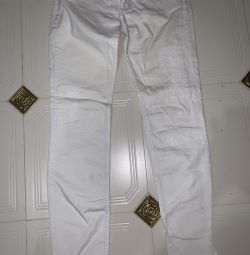 Jeans alb