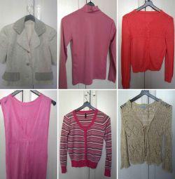 Bluzlar, ceket ve yelek büyüklüğü 42-44