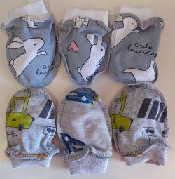 Царапки для малышей хлопок