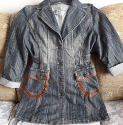 джинсовий плащь або курточка