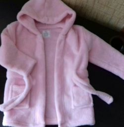 Dressing gown for the baby, very soft