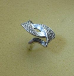 Signet 925 sterling silver, with inserts, new